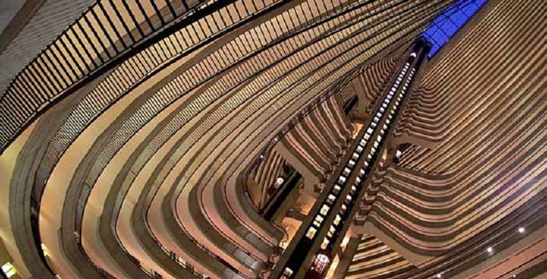 Coolest hotel elevators: Atlanta Marriott Marquis