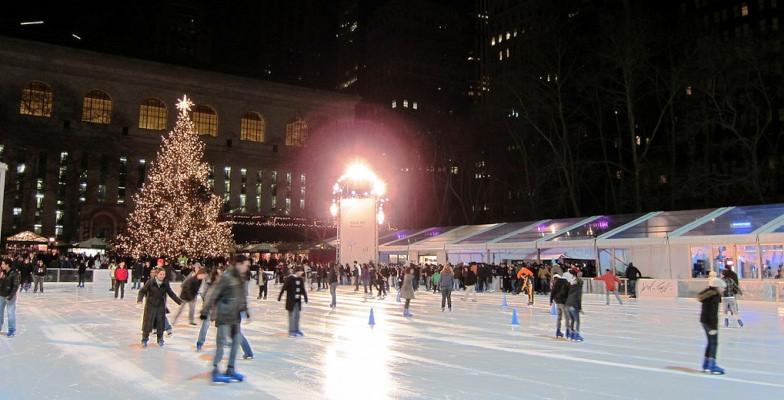 cool skating rinks:  Bryant Park