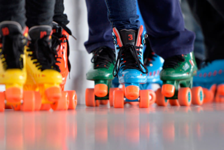 Roller skaters at Lakeside Rink in New York City