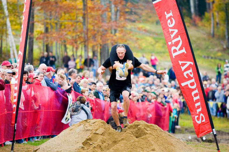 Wife Carrying Championship at Sunday River Ski Resort