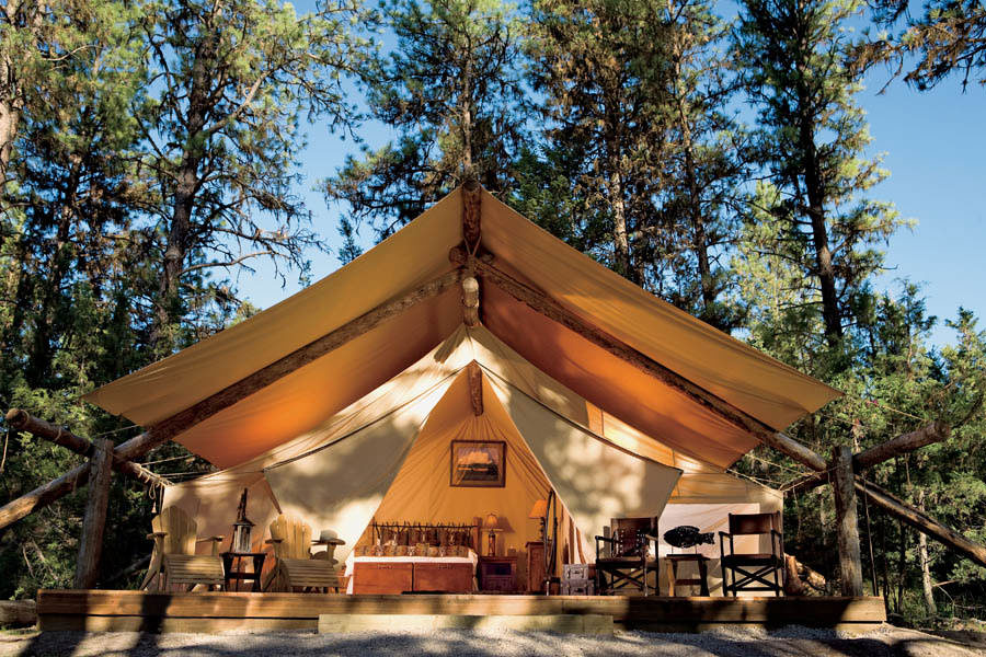 Luxury Camp at Paws Up Ranch