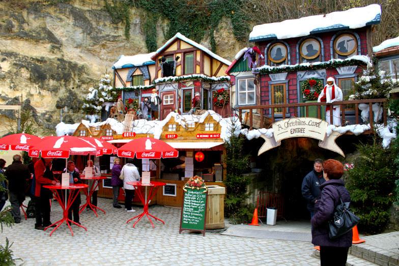 The Valkenburg Christmas market in The Netherlands