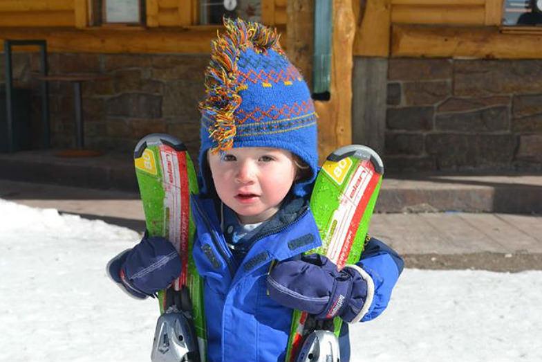 Kid at Snowy Range