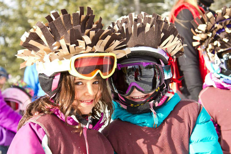 Young skiers at Jackson Hole