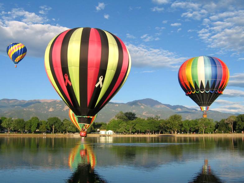 Hot air balloons at the Colorado Hot Air Balloon Classic