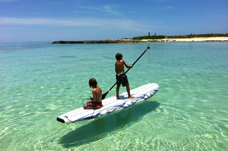 Kids Paddle Boarding