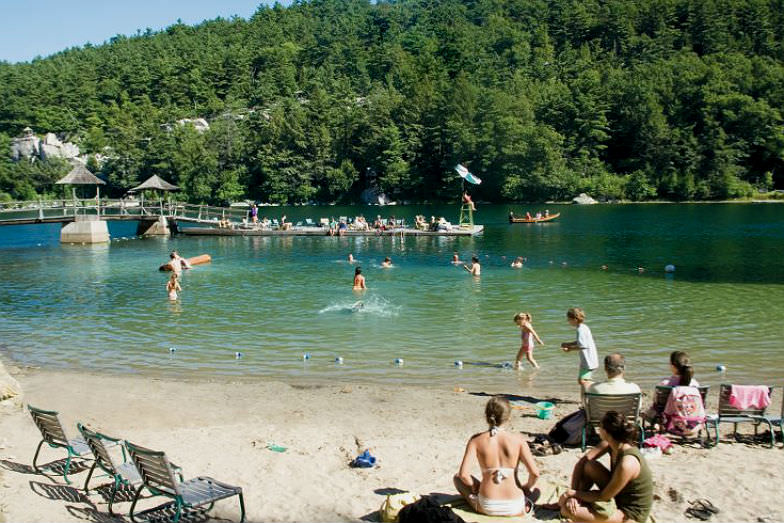 Family beach at Mohonk Mountain House
