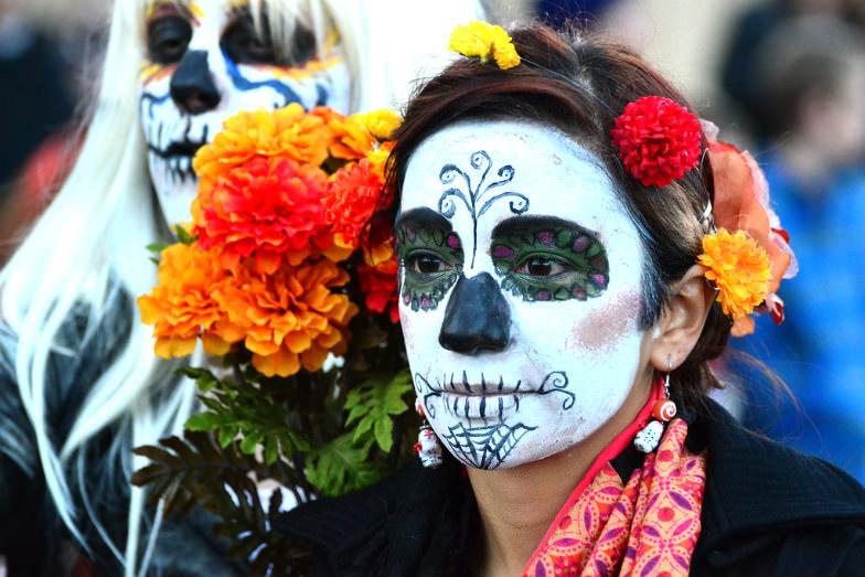 Day of the Dead Marigold Parade in Albuquerque, NM