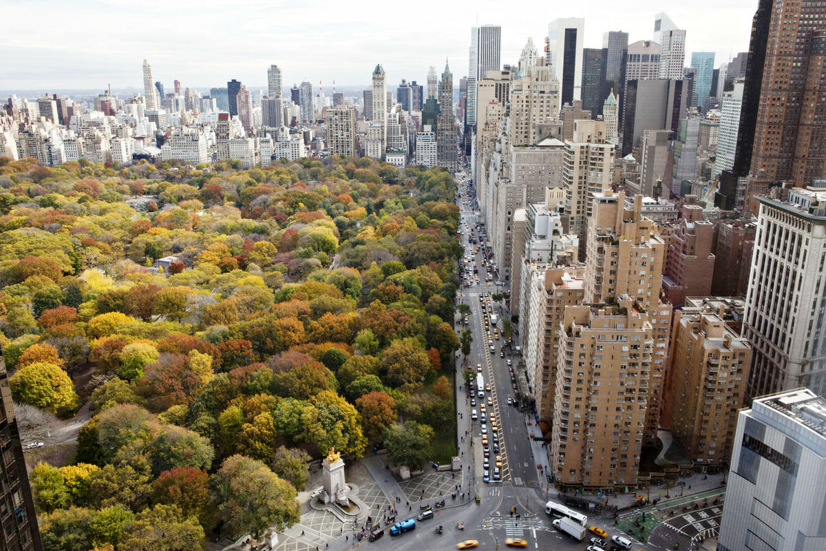 Central Park view from the Mandarin Hotel