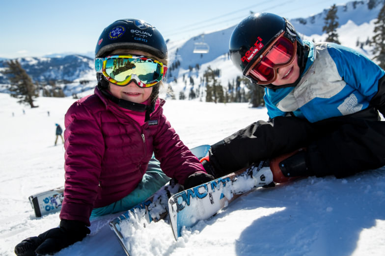 Little skiers at Squaw Valley