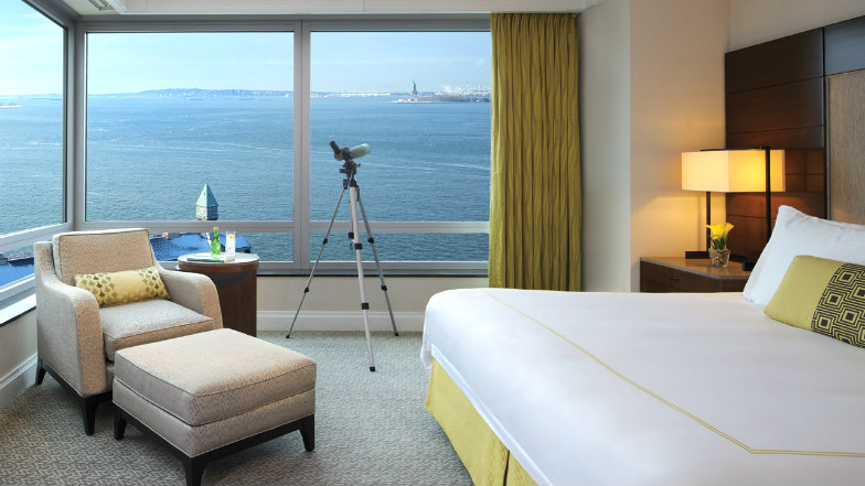 Room with panoramic views at the Ritz Carlton Battery Park