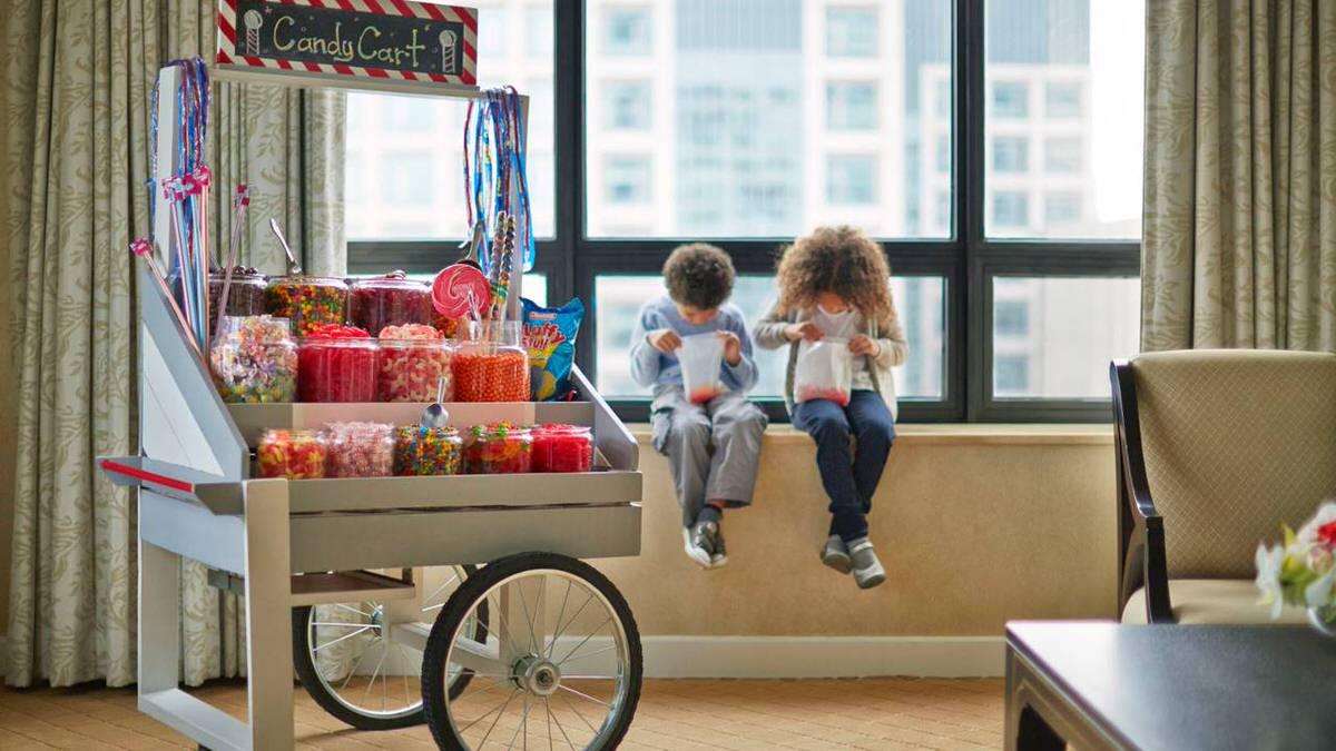 Candy cart at Ritz Carlton Hotel Chicago