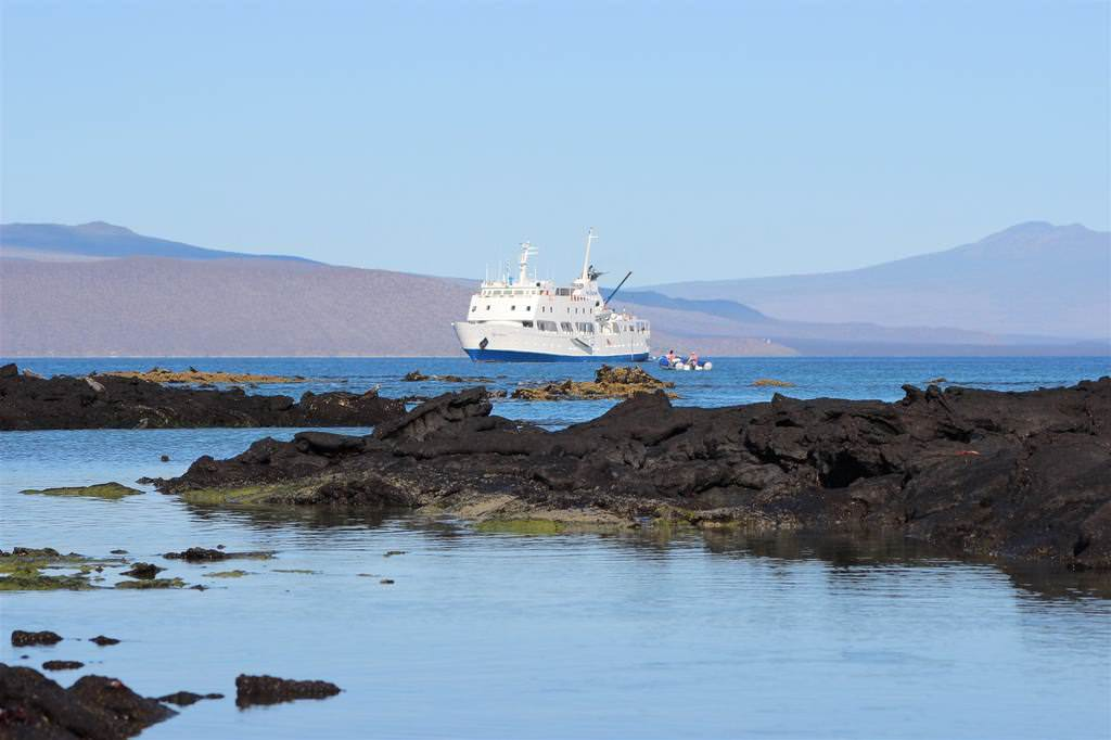 Eclipse cruise ship in the Galapagos