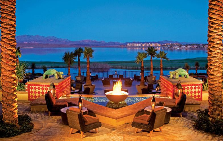 Vegas sunset at Westin Lake Las Vegas