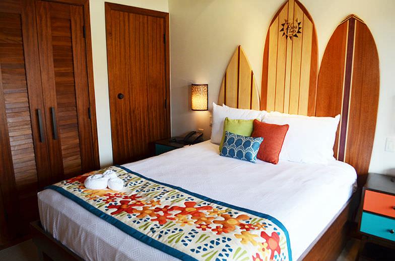 Bedroom at the Bora Bora Bungalows