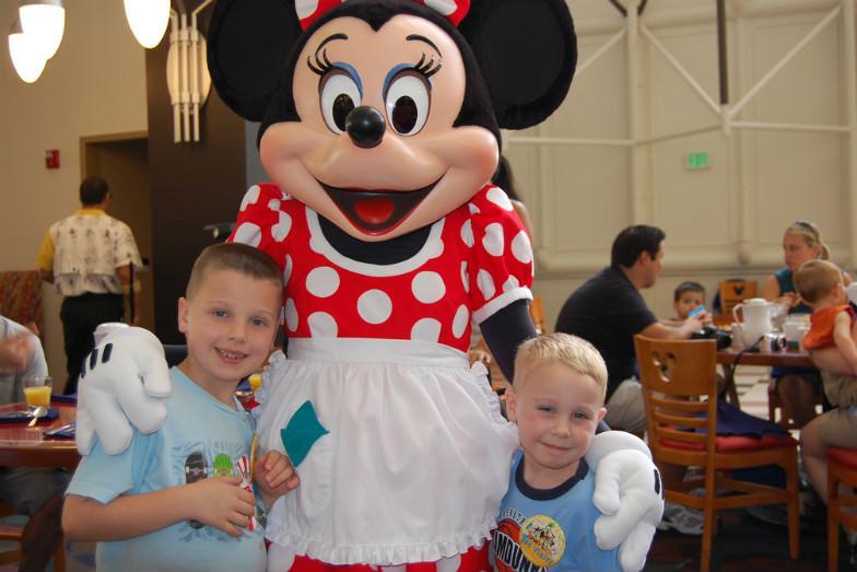 Character breakfast at Disney