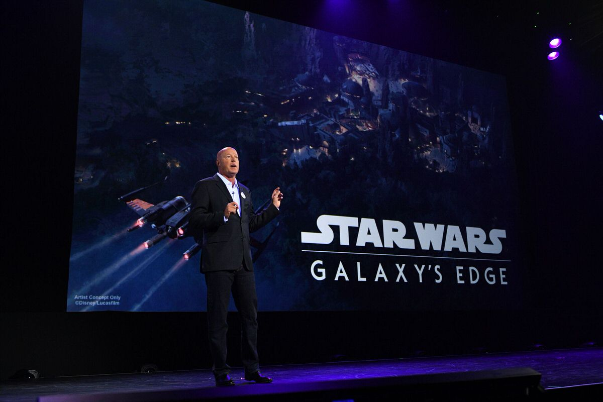 Bob Chapek announced Star Wars: Galaxy's Edge as the name of the previously untitled Star Wars-themed land coming to Disney's Hollywood Studios.