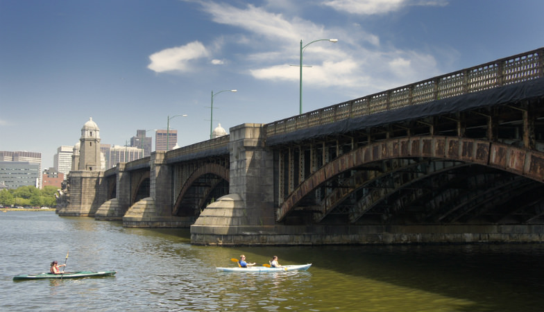 Kayaking in the Charles River