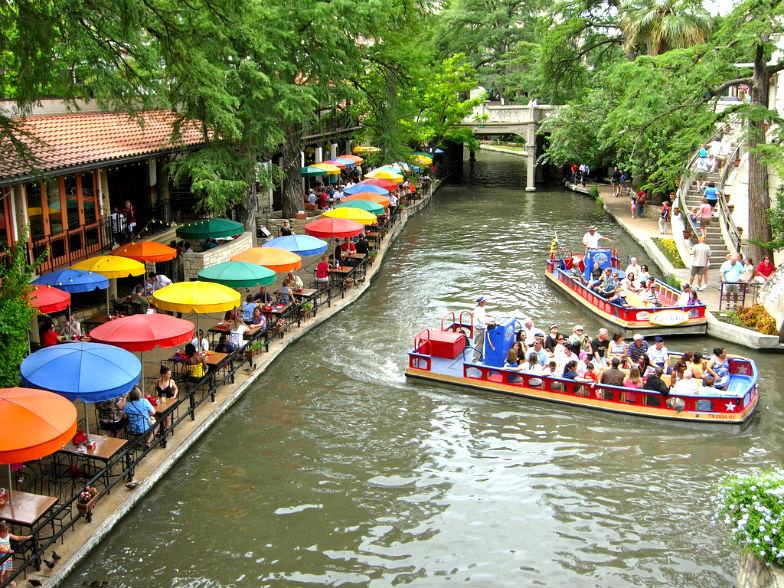 The River Walk in San Antonio, Texas