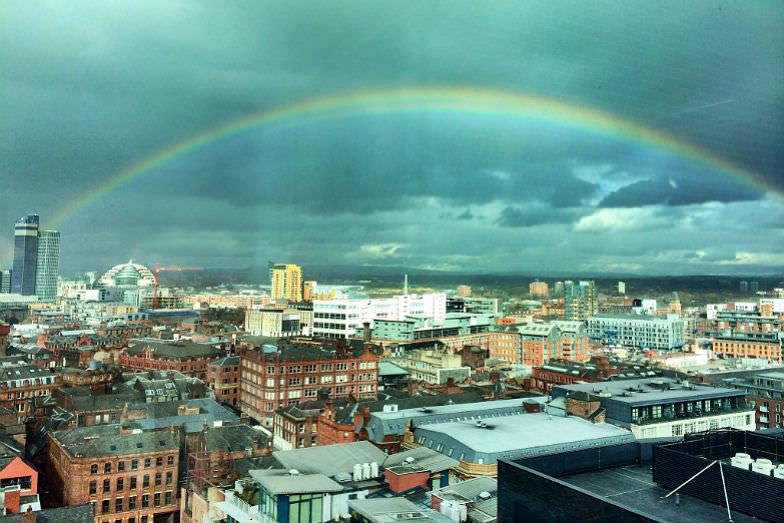 Manchester, England skyline