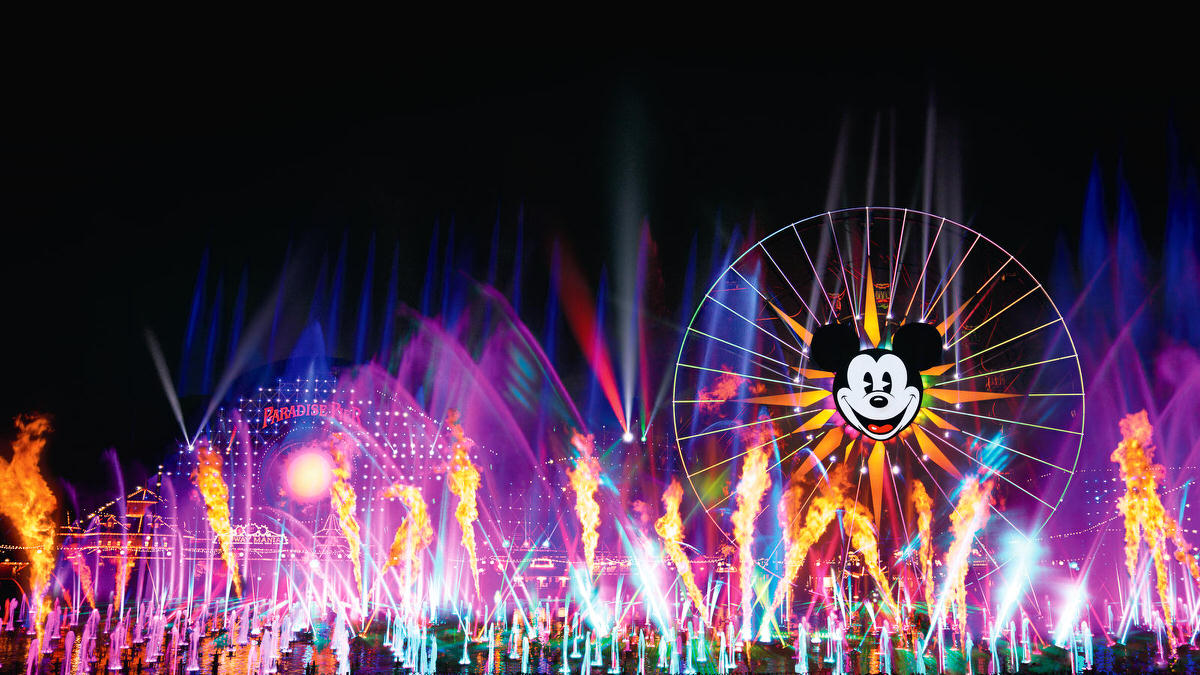 Family at Disneyland California