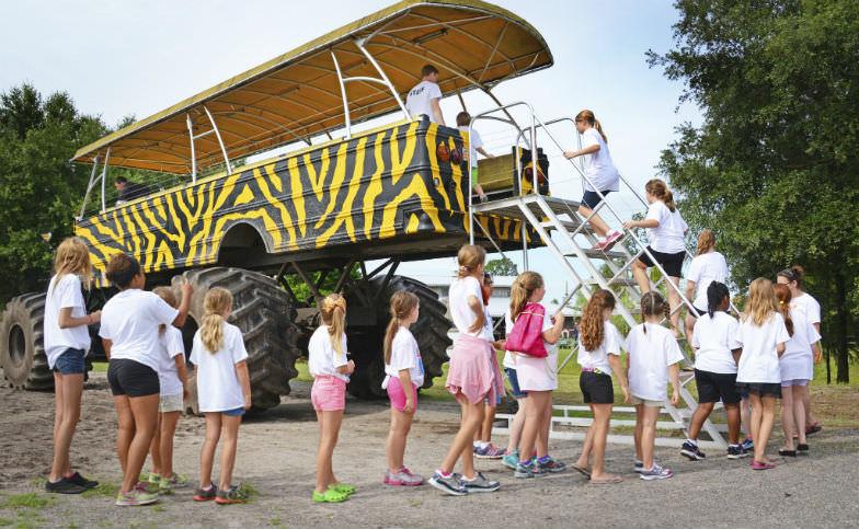 Hop aboard the area's largest 4x4 ride for a farm tour.