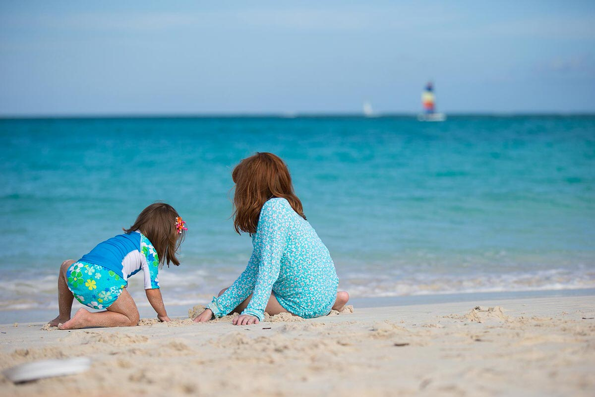 The beaches of Turks and Caicos are family-friendly and great for kids.