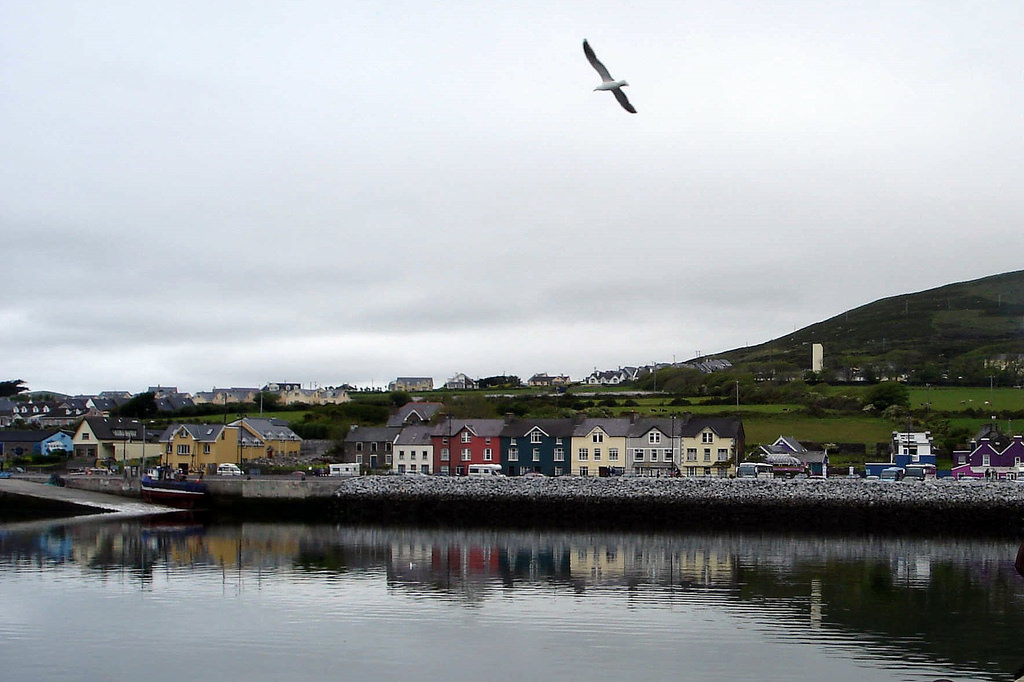 Houses along the waterfront in Dingle, Ireland