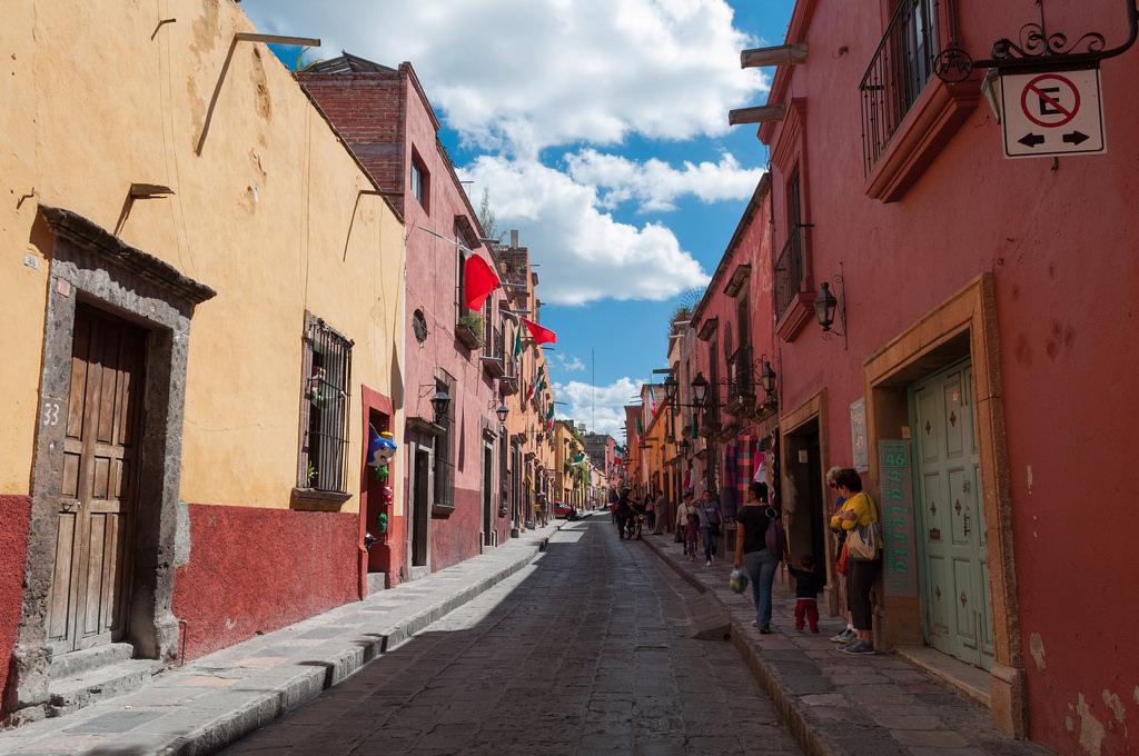 A street in San Miguel de Allende