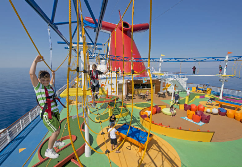 Play area on a Carnival cruise ship