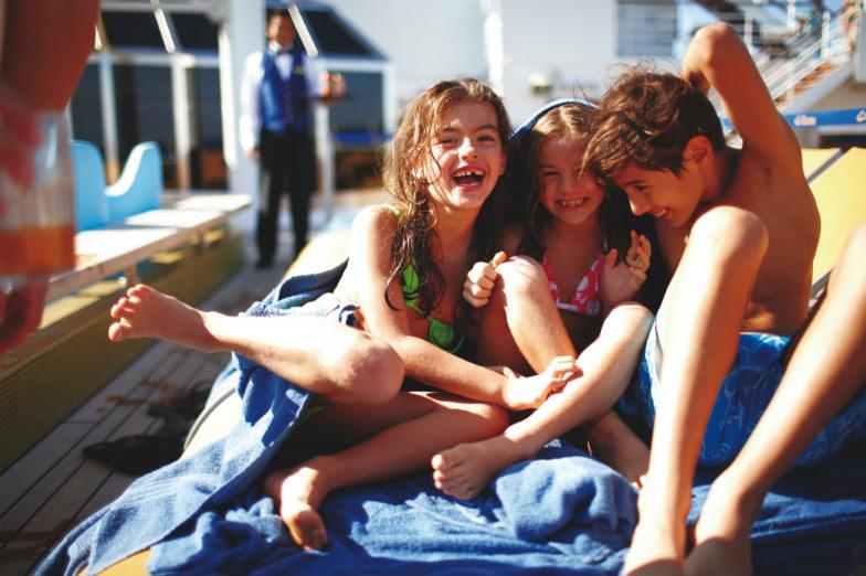 Kids on a Costa cruise ship