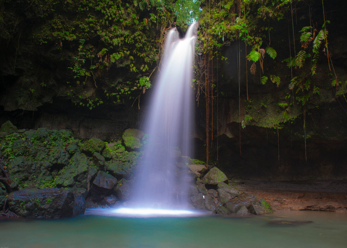 Emerald Pool in Dominica is one of the Caribbean's beautiful waterfalls.