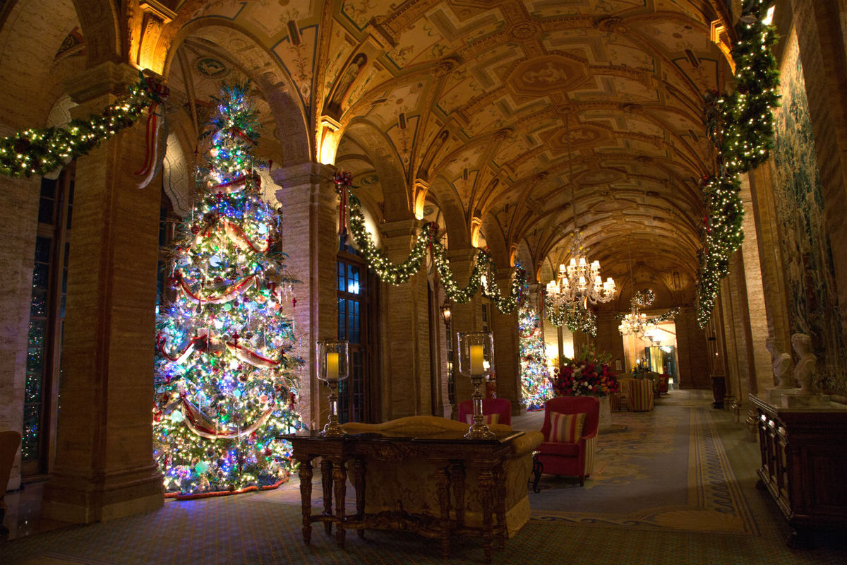 A great family vacation idea for the holidays is indulging in The Breakers Palm Beach resort-wide winter dreamscape.