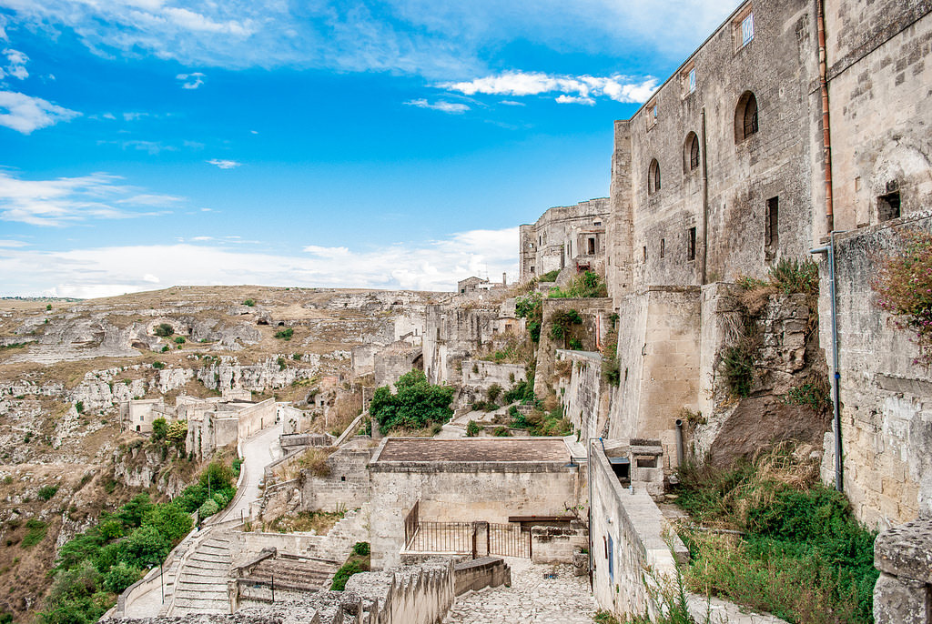 The beautiful ancient city of Matera is one of the best filming locations to visit with teens.