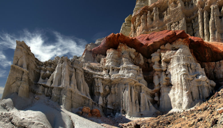 Rock formations at the Red Rock Canyon