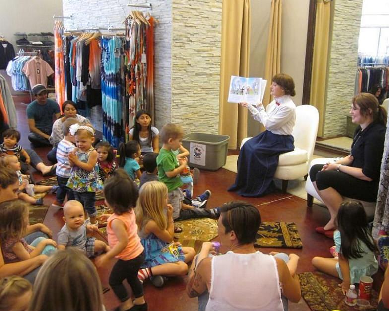 Story time at Tivoli Village