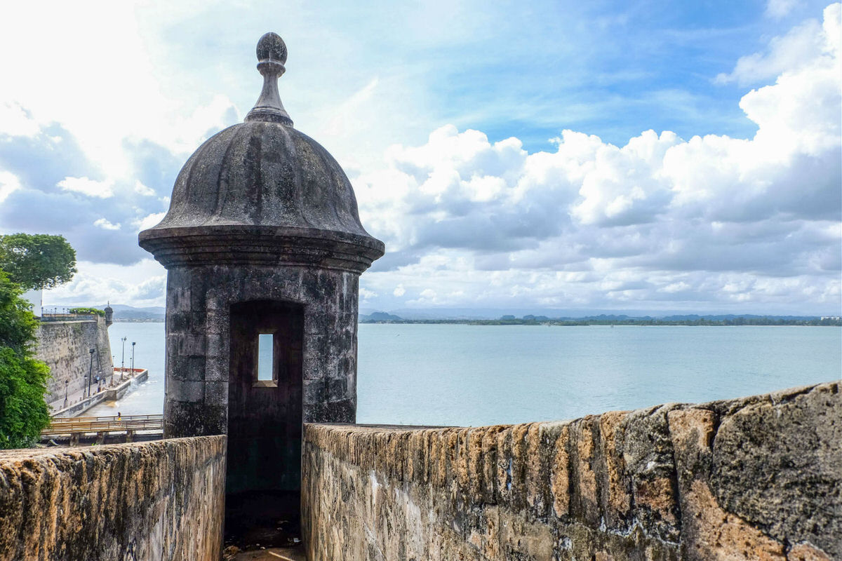 Old city wall in San Juan, Puerto Rico