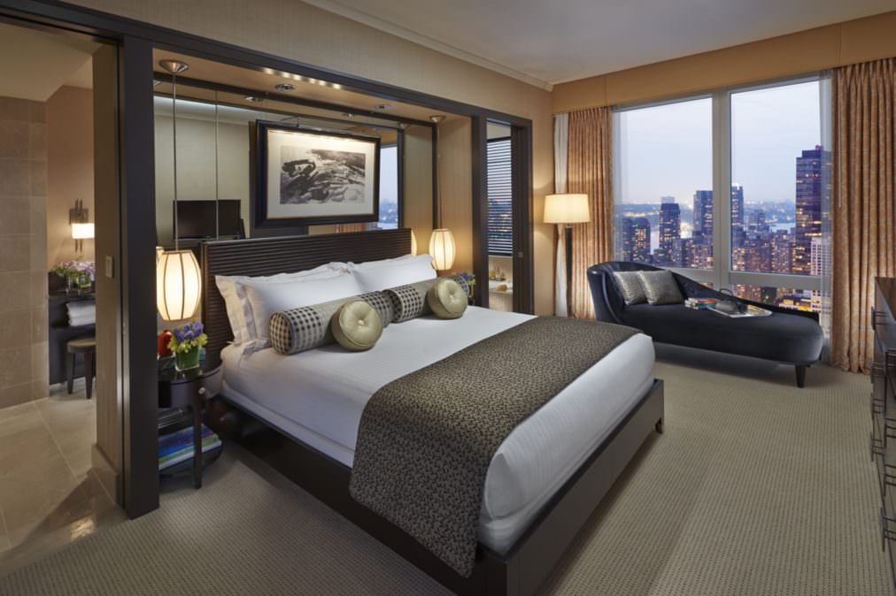 Central Park view suite at the Mandarin Oriental