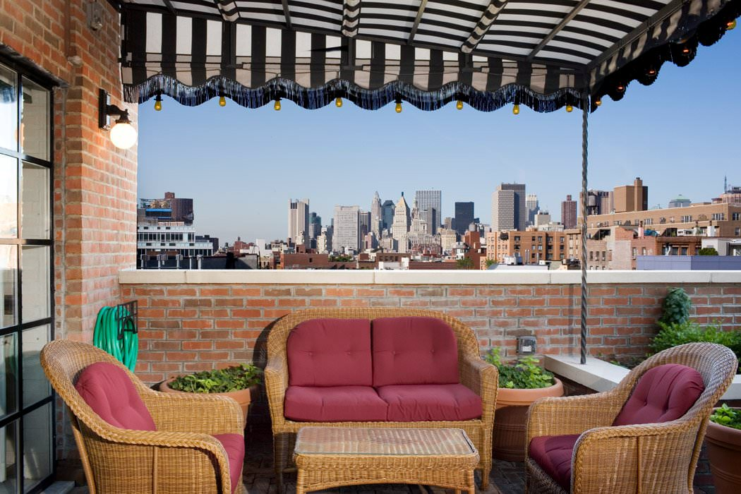 One bedroom terrace at the Bowery Hotel