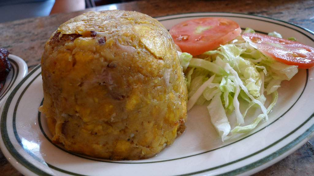 Mofongo is a local Puerto Rican dish.