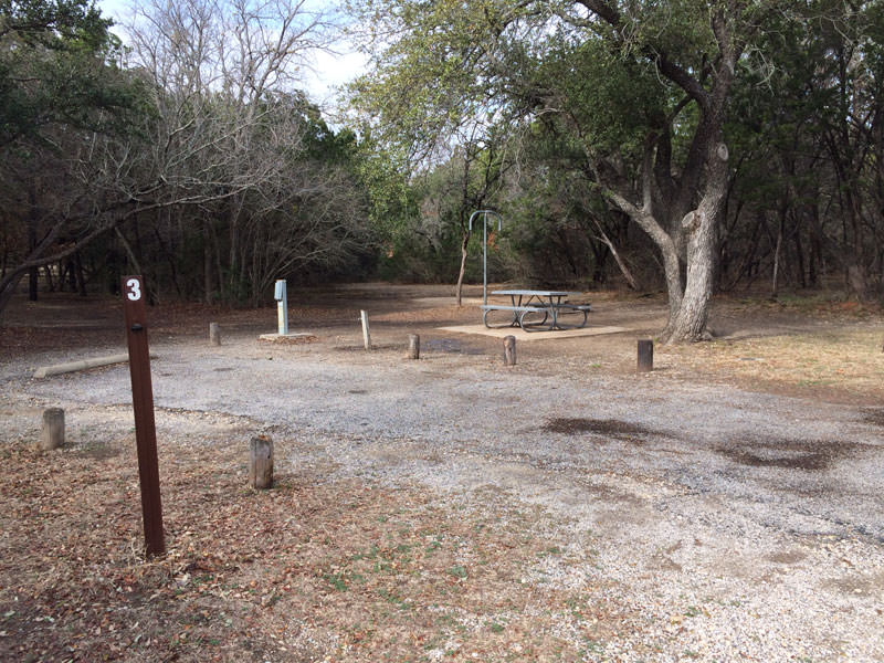 Campsite at the park