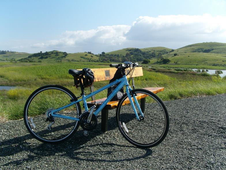 Bike on a Bay Area ridge trail