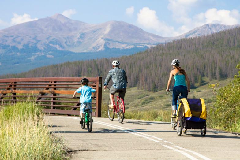 Family mountain biking fun in Breckenridge, Colorado