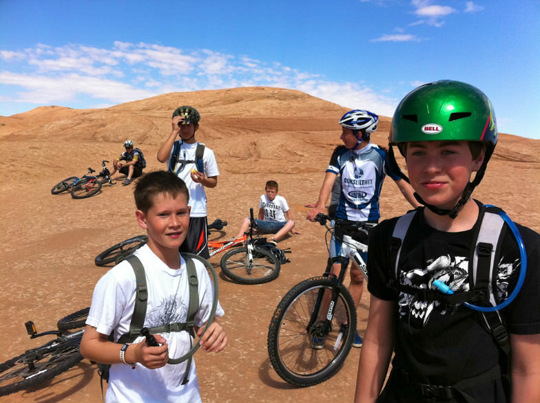 Young bikers in Moab
