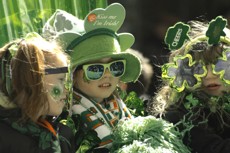 Young St. Patrick's Day revelers