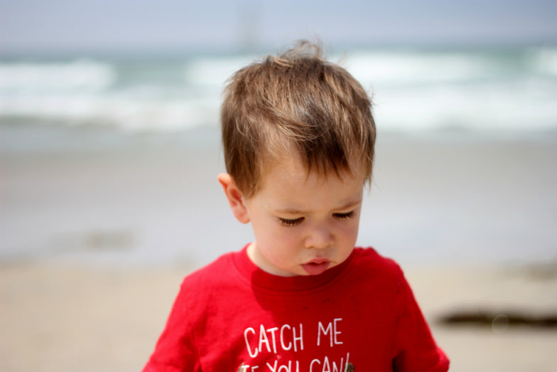 Child at Pacific Beach