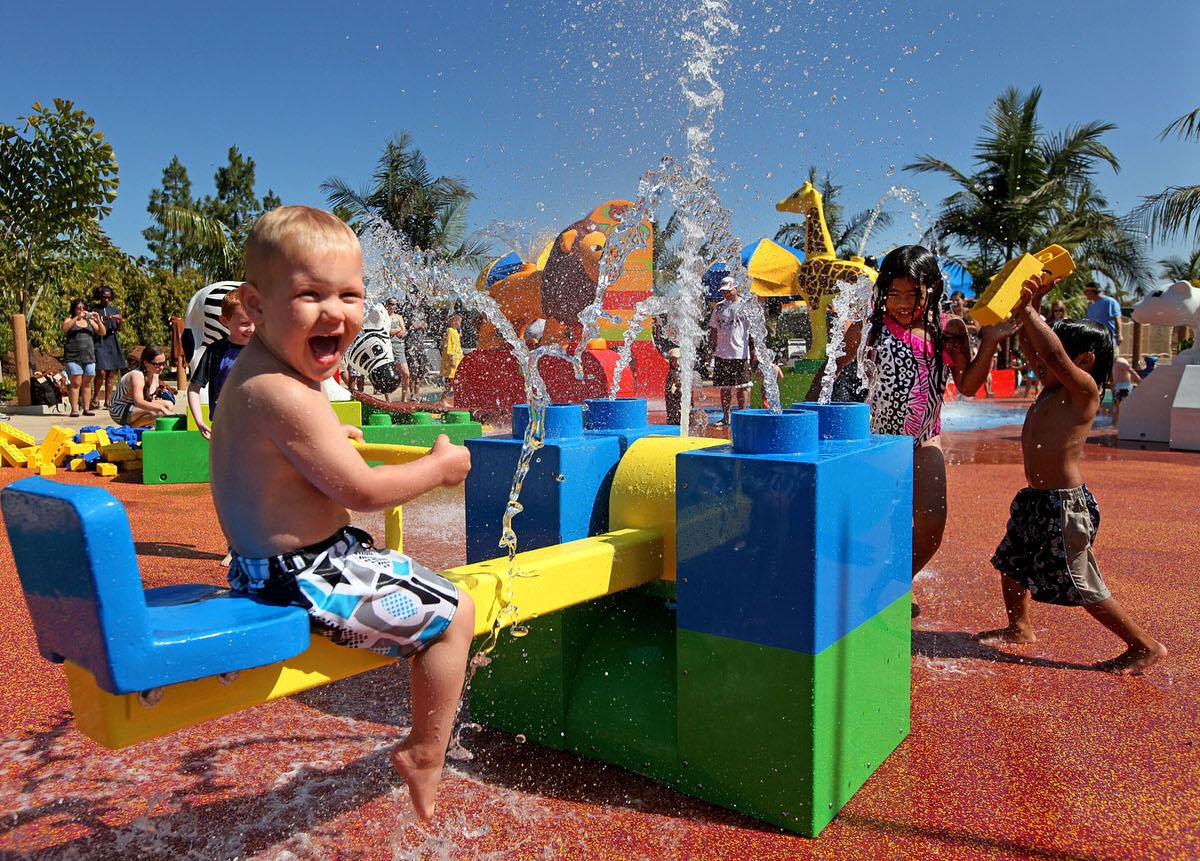 Splash zone at Legoland