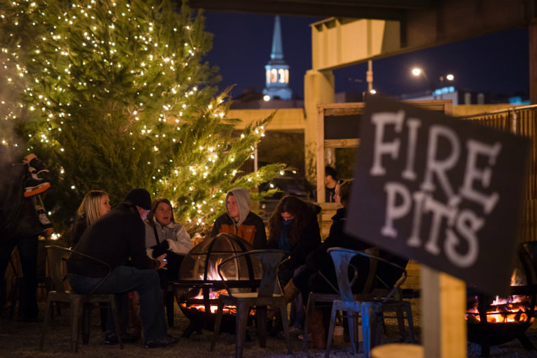 After a race around the ice-skating rink, cozy up to a fire pit at the Waterfront Winterfest.