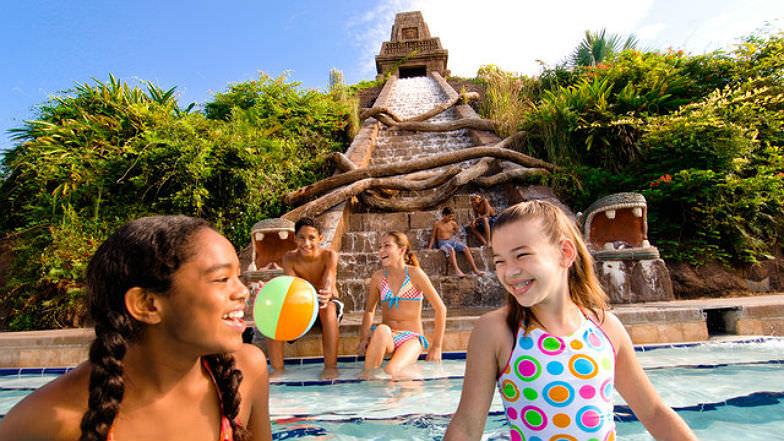 Waterslide and pool at Coronado Springs Resort
