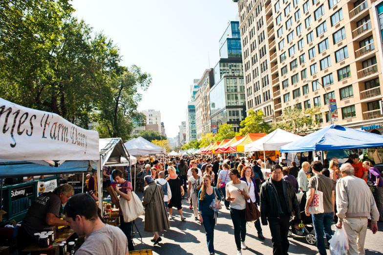 A farmer's market in NYC